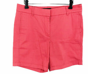 """J. Crew Womens Size 8 Stretch Classic Chino Shorts Higher Rise Tailored Fit 7"""""""