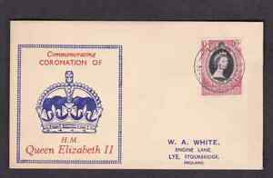 British New Hebrides 1953 FDC 1st day cover QE II coronation H A White