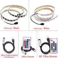 5V 5050 RGB LED Strip Light Bar TV Back Lights Kit 60SMD/M + USB Remote Control