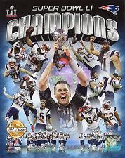 New England Patriots 2016-17 Super Bowl Champions 8X10 Team PF Gold Photo #/5000
