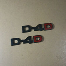 2PCS Matte Black D-4D Metal Emblem Sticker Decal Badge suv DAD v6 3D Limited 4wd