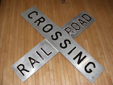 VINTAGE RAILROAD CROSSING SIGN  - LARGE 4ft x 9""