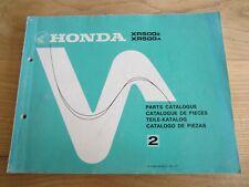 HONDA XR500 XR 500 PARTS CATALOGUE 13429Z42 1979 1980 TEILE KATALOG Twinshock