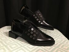 New Modern Alchemist Black Patent Leather Calf Hair Menswear Inspired Shoes 35.5