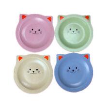 Unbreakable 4pcs Dinner Plates Dinnerware Dishes Cartoon Cat Plate Saucer Tray