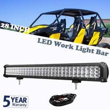 28Inch 900W Triple Row CREE LED Light Bar Flood Spot Combo Driving Lamp UTV 4WD