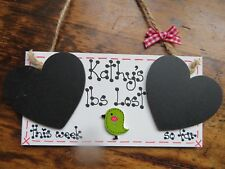 Personalised Diet Slimming Weight Loss Plaque Sign Shabby Chic Countdown 🚴🏼