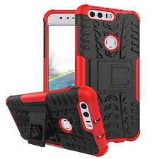 Hybrid Case 2 Pieces Outdoor Red for Huawei Honor 8 Case Cover New Case