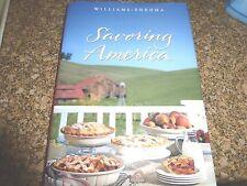 2 books: Williams-Sonoma Cookbook Savoring Italy & Savoring America