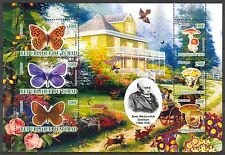 Chad 2010 Butterflies & Mushrooms XII Birds Flowers Dogs Sh of 6 MNH** Privat !
