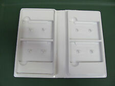 NEW Qty Of 2 Audio Cassette Trimpacks White ( 2C+2C ) - Ea Case Holds 4 Tapes