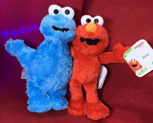 "Sesame Street- Mini Plush- Set Elmo And Cookie Monster Doll 10"" Children's Plush"