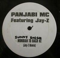 "PANJABI MC feat JAY-Z ~ Mundian To Bach Ke ~ 1 SIDED 12"" Single INDIAN"