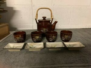 Japanese Tea Set Teapot with 4 Cups Made in Japan
