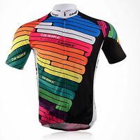 Bike Riding Men Jersey Cycling Shirt Road Bicycle Short Sleeve Top Wear QuickDry