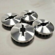 "4pcs Chevy Wheel Center Hub Caps Brushed 83mm 3.25"" for Suburban Silverado 14-20"