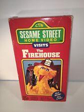 Sesame Street Visits the Firehouse VHS Random House 1990 Big Bird Elmo Henson