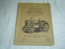 Massey Harris MH44 MH 44 tractor operator's instructions and service manual