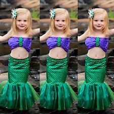 Toddler Little Mermaid Set Girl Princess Dress Party Cosplay Costume Outfits