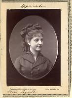 Lemercier et Cie, Paris, Gymnase. Maria Legault  Vintage print.  Photoglyptie