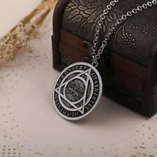 Quality Constantine Round Triangle Logo Pewter Necklace Pendant Cosplay Prop