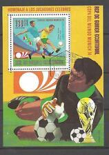 Football Guinée Equatoriale (50) bloc oblitéré