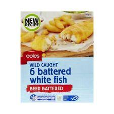 Coles Frozen Beer Battered White Fish Fillet 6 pack 425g