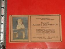 BC157 Vintage 1920's Blotter Real Photo Tin Lizzy Panama Rubber & Equipment Co