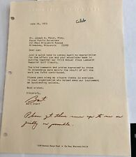 Bart Starr Autographed Green Bay Packers Football HOFer 1973 Letter Personal PSA