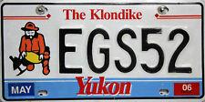 Yukon  Klondike  License Plate Kanada, Original Kennzeichen  EGS52  ORIGINALBILD