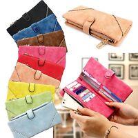 Fashion Women Lady Clutch PU Leather Long Wallet Lady Card Holder Purse Handbag