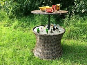 CHELSEA GARDEN COMPANY RATTAN BAR TABLE WITH COOLER