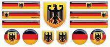 German Germany Flag domed sticker decal emblem BMW Mercedes VW Audi