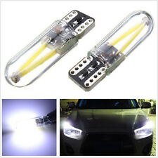 10 Pcs DC12-24V T10 W5W 6000K LED Car Off-Road COB Glass Light Side Marker Lamps