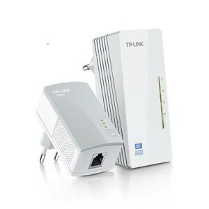 TpLink TLWPA4220KIT 300Mbps AV500 WiFi Powerline Extender Starter Kit HomePlug 5