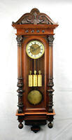 Highly Carved German Gustav Becker Grand Sonnerie 3 wt Vienna Regulator Clock