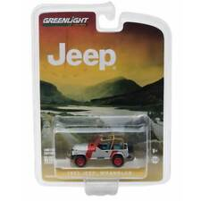 Greenlight 1993 Jeep Wrangler YJ Red and Grey 1/64 Scale
