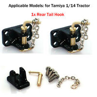 For 1/14 Tamiya RC Tractor Truck Parts Metal Rear Tail Hook DIY Modification Kit