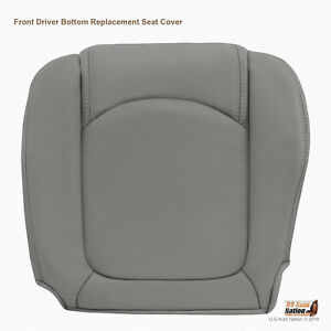 For 2009 2010 Saturn Outlook Driver Lower Leather Seat Cover LIGHT TITANIUM GRAY