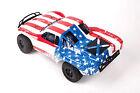 Custom Body Flag Star Style for Traxxas 1/10 Slash Truck Car Shell Cover 1:10