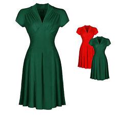 Damenkleider im 50er-Jahre-Stil mit V-Ausschnitt für Cocktail-Anlässe