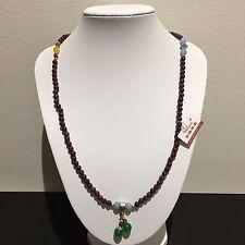 4mm Genuine Natural Garnet Red Gemstone Bead Charm Buddha Necklace