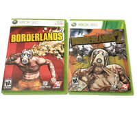 Lot of 2 Microsoft XBOX 360 games - Borderlands 1 and 2 Both Complete w/ Manuals