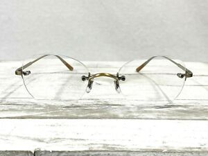 Oliver Peoples Ashmore OV111OT Unisex Rimless Eyeglass Frames Gold 47▯21-145