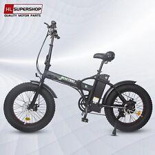 "Black Folding Electric Fat Tire Bike Beach Bicycle City Ebike 20"" 48V 13AH 500W"