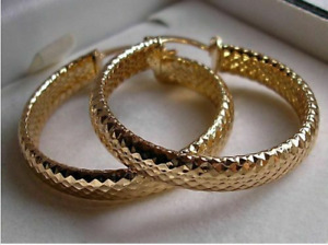 9ct Gold gf hoop earrings ALMOST SOLD OUT! from 9ct gold bling 93.