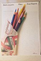 Vintage James Cross Ditelo co Gusto Filare Pencils Poster 1980's graphic arts
