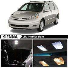 19x White Interior LED Lights Package Kit for 2004-2010 Toyota Sienna + TOOL