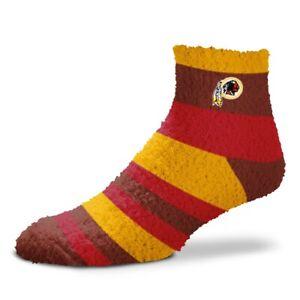 Washington Redskins Women's NFL Rainbow Sleep Soft Fuzzy Socks - OSFM
