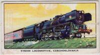 Czechoslovakia State Railways 2-10-0 Class Steam Locomotive Vintage Trade Card